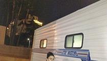 Lindsay Lohan -- Back on Set After 911 Scare [PHOTO]