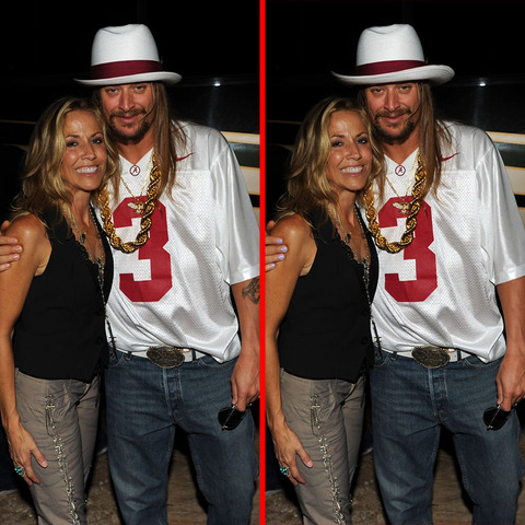 Can you spot the THREE differences in the Sheryl Crow and Kid Rock picture?