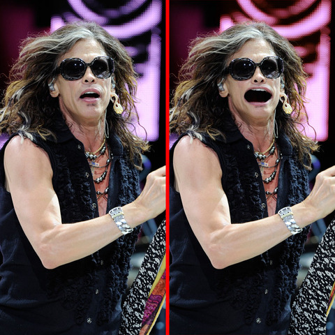 Can you spot the THREE differences in the Steven Tyler picture?