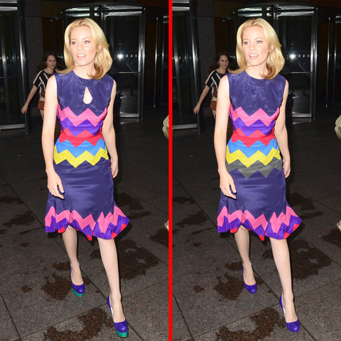 Can you spot the THREE differences in the Elizabeth Banks picture?