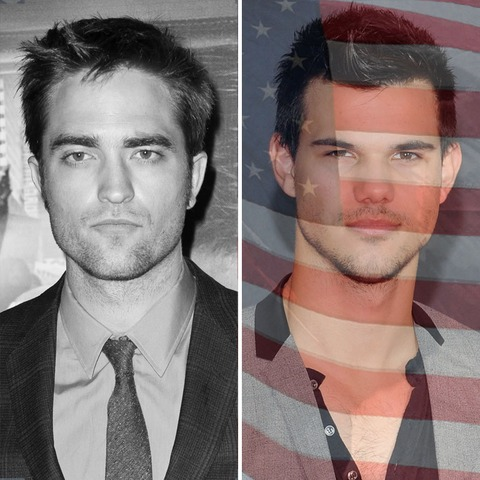 Robert Pattinson was born in England. Taylor Lautner was born in the USA!