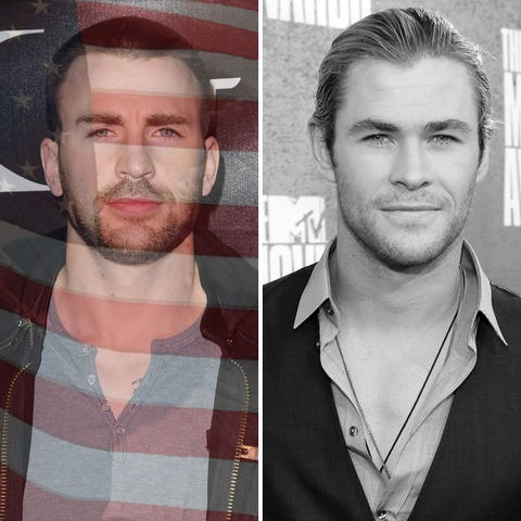 Chris Evans was born in the USA! Chris Hemsworth was born in Australia.