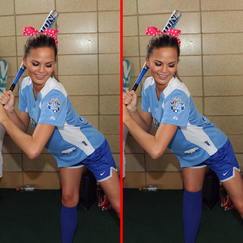 Can you spot the THREE differences in the Christine Teigen picture?
