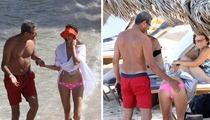 Jeff Goldblum -- Bootyful Beach Day with Much Younger GF
