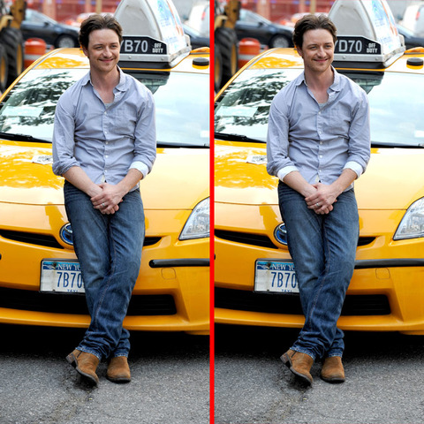 Can you spot the THREE differences in the James McAvoy picture?