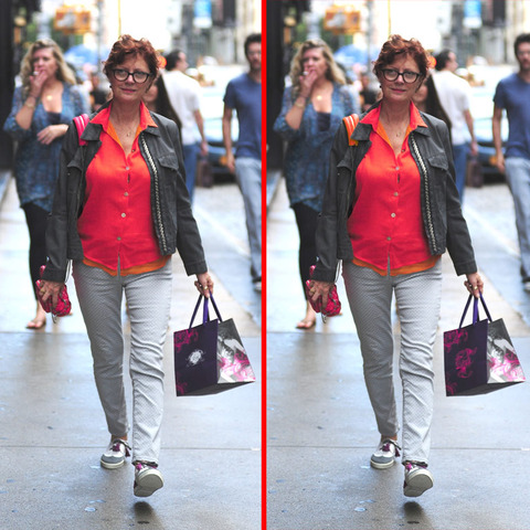 Can you spot the THREE differences in the Susan Sarandon picture?