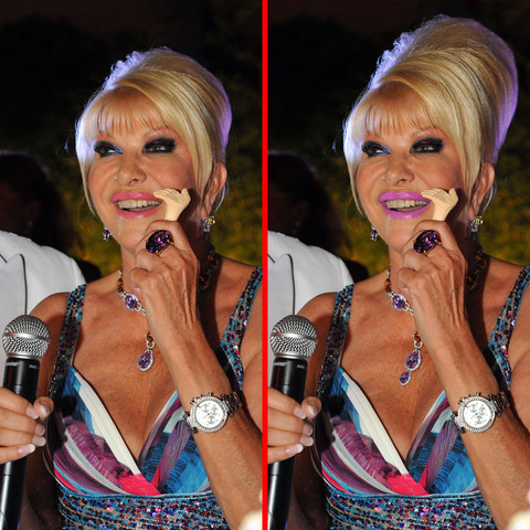 Can you spot the THREE differences in the Ivana Trump picture?
