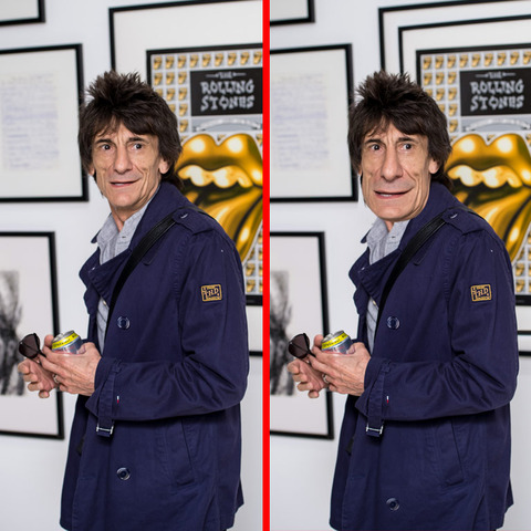 Can you spot the THREE differences in the Ronnie Wood picture?