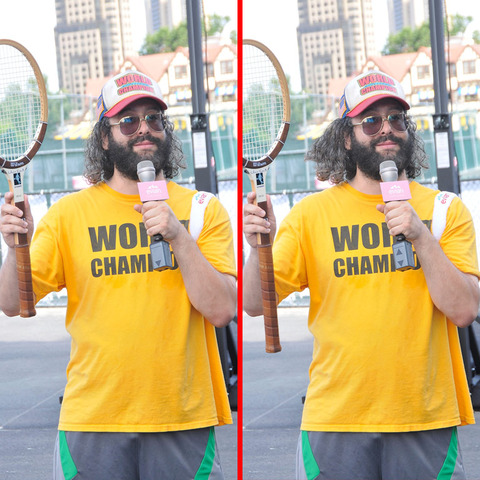 Can you spot the THREE differences in the Judah Friedlander picture?