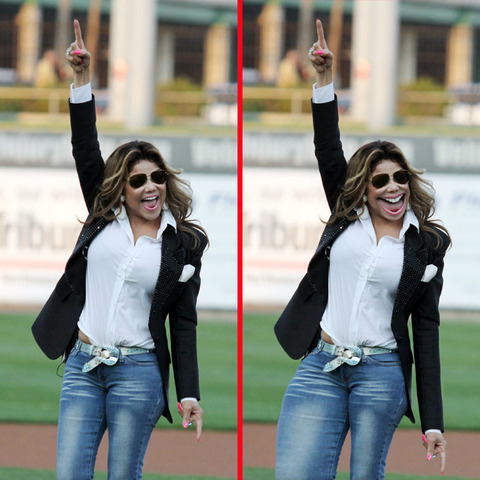 Can you spot the THREE differences in the La Toya Jackson picture?