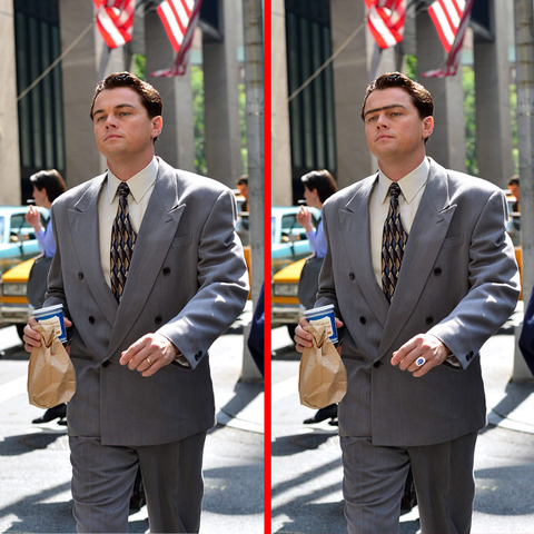 Can you spot the THREE differences in the Leonardo Dicaprio picture?