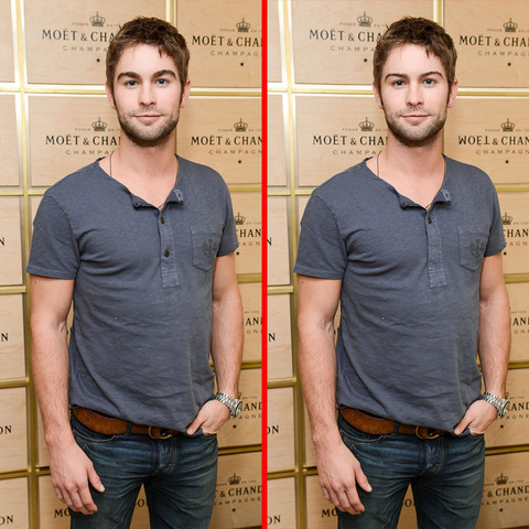 Can you spot the THREE differences in the Chace Crawford picture?