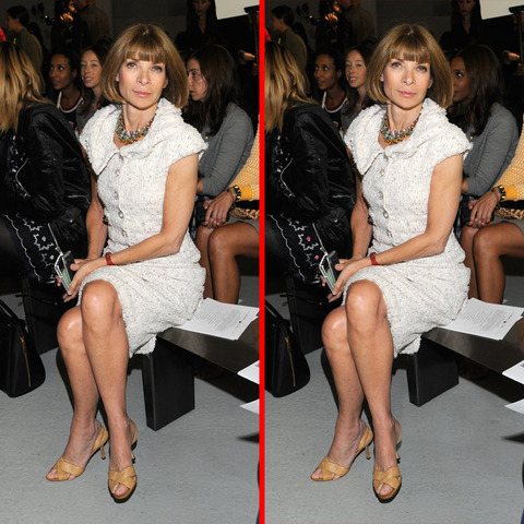 Can you spot the THREE differences in the Anna Wintour picture?