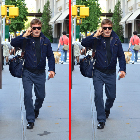Can you spot the THREE differences in the Alec Baldwin picture?