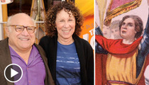 Danny DeVito & Rhea Perlman Separation -- Columbus Day History Lesson
