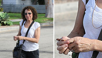 Rhea Perlman -- Cheery After Danny DeVito Split