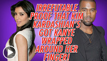 Kim Kardashian Has a GIANT ... Handful of Kanye West's Butt