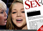 Miley Cyrus -- Big Money Offer for 'Girl-on-Girl' Porn Action