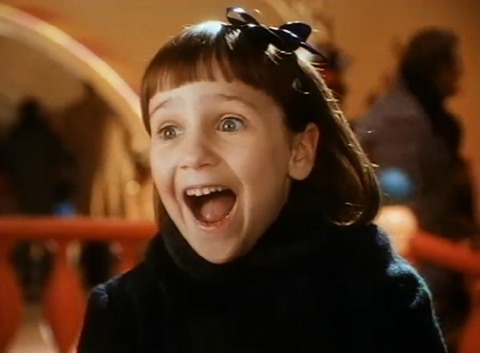 "Mara Wilson, who starred in films such as Matilda and Mrs. Doubtfire starred in the film ""Miracle on 34th Street"" as Susan Walker."