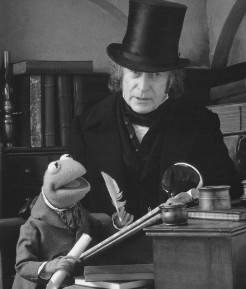 "In ""The Muppet Christmas Carol"" Michael Caine played the unhappy Ebenezer Scrooge."