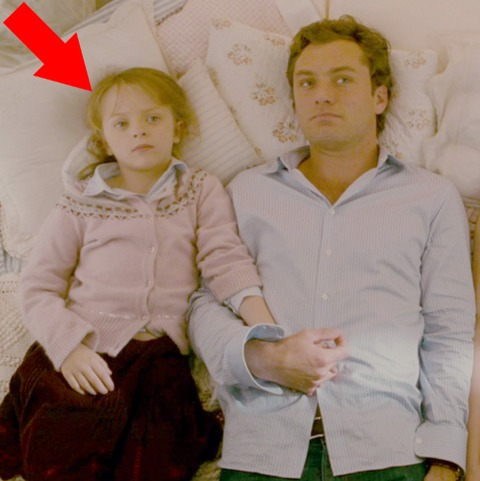 "Miffy Englefield played the older adorable daughter of Jude Law in the film ""The Holiday."""