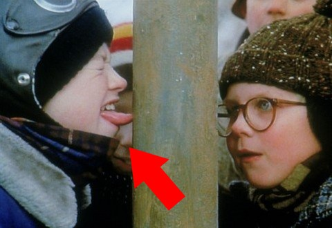 Remember that not-so-smart kid Flick whose tongue was stuck to the pole? Check him out now!