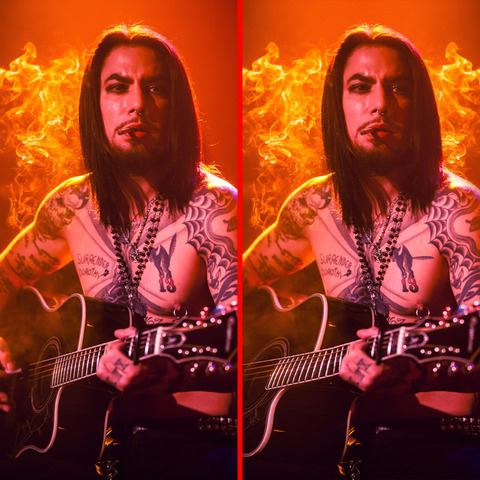 Can you spot the THREE differences in the Dave Navarro picture?