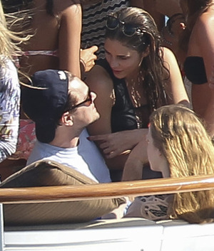 Leo DiCaprio -- The Topless Babe Yacht Party