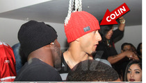 Colin Kaepernick -- Parties with Alex Smith at 49ers NFC Victory Bash