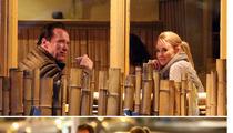 Arnold Schwarzenegger  -- The Hot Blonde Dinner Date