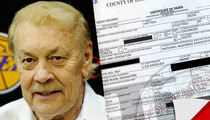 Jerry Buss Death Certificate -- Prostate Cancer Led to Kidney Failure