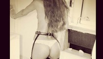 Rihanna -- Thongin' Out in Risque Instagram Pic