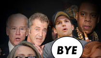 Celebrity Hackers -- Peace ... We're Outta Here!