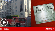 Ashley Greene 911 Tape -- 'The Building's On Fire!'
