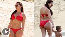 Chris Bosh's Wife -- Booty vs. Baby ... Size Matters