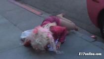 Hollywood Pin-Up Angelyne Faceplants Hard in Bev Hills [VIDEO]