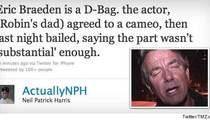 Neil Patrick Harris Calls Actor 'A D-Bag' on Twitter