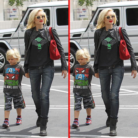 Can you spot the THREE differences in the Gwen Stefani and Zuma Rossdale picture?