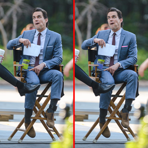 Can you spot the THREE differences in the Matt Bomer picture?