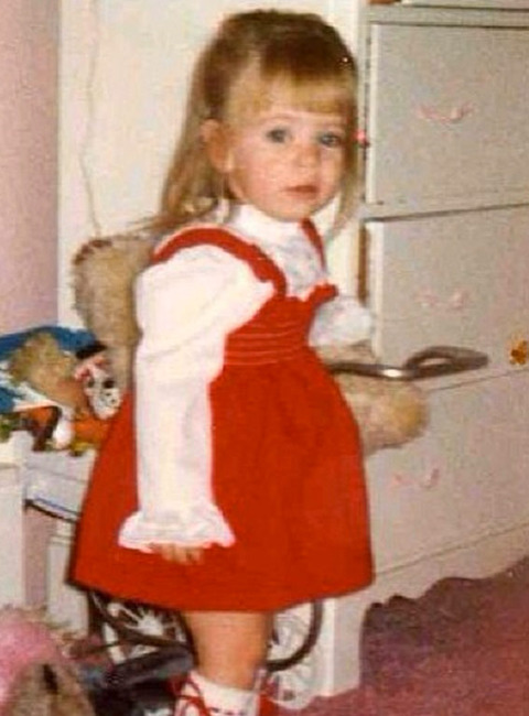 Before this little lady was a television star she was just another cute kid growing up on Long Island.