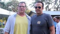 Vince Vaughn - BBQ'ing with UNMASKED Wrestling Superstar Kane!!