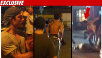 Ex-UFC Star in Bloody Street Fight -- Caught on Tape