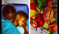 Usher's Son -- First Photo After Horrific Pool Accident