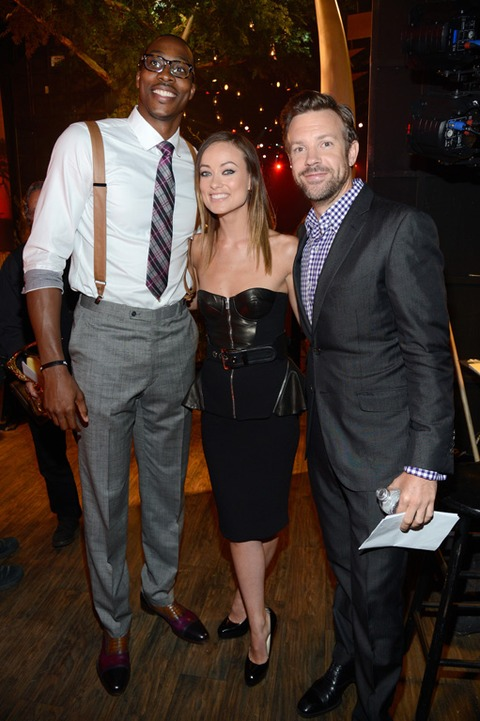 Dwight Howard, Olivia Wilde and Jason Sudeikis