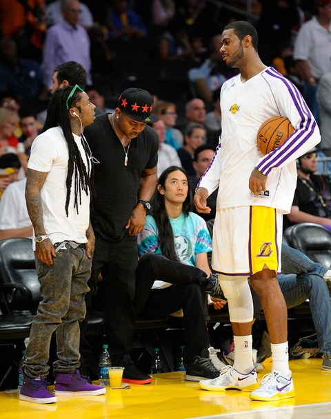Lil Wayne and Earl Clark