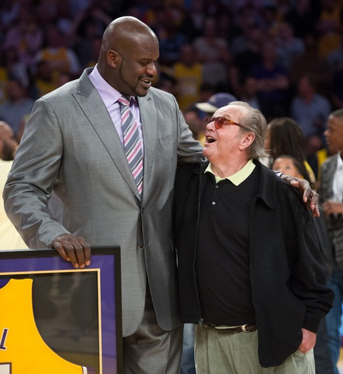 Shaquille O'Neal and Jack Nicholson