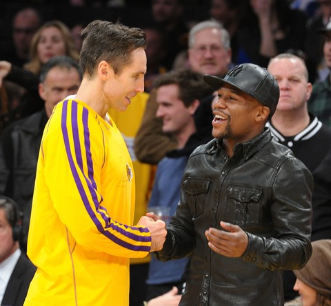 Floyd Mayweather Jr. and Steve Nash