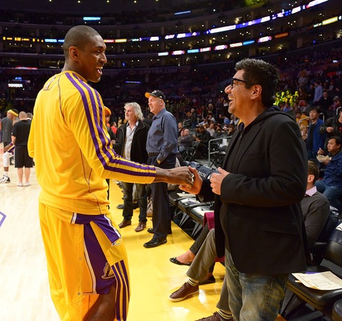 George Lopez and Metta World Peace
