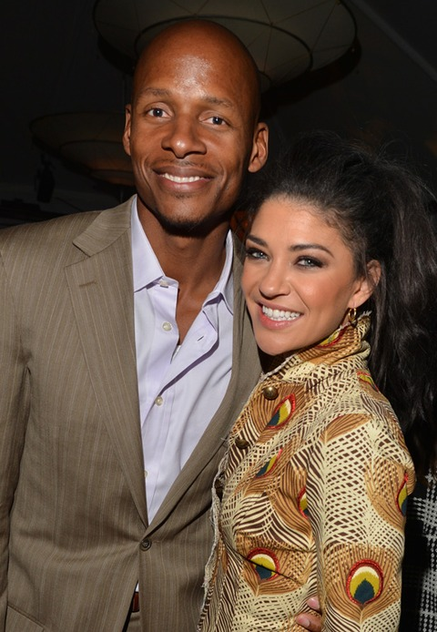 Ray Allen and Jessica Szohr