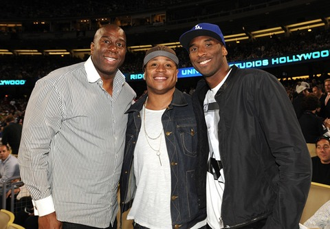 Magic Johnson, LL Coll J and Kobe Bryant